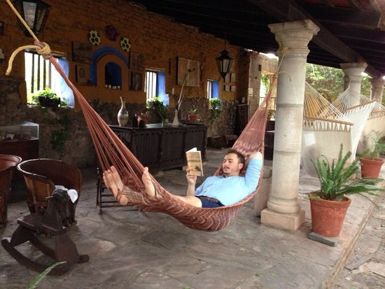 Hacienda El Carmen Hotel & Spa: A perfect place for a siesta. My son and his favorite place.