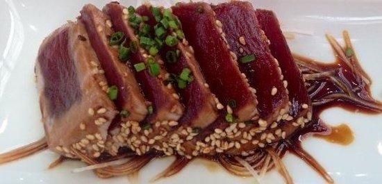 Entrecañas: Tataki de atún de almadraba