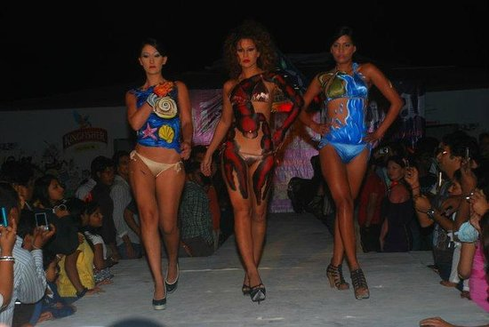 Body Art Fashion Show Picture Of Bottle Bay Calangute Tripadvisor
