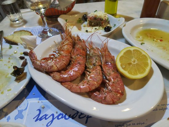 Prawns at Lagoudera