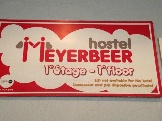 Hostel Meyerbeer : Placa de identificação