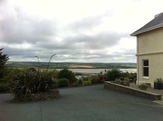 The St Enodoc Hotel: View from the carpark.