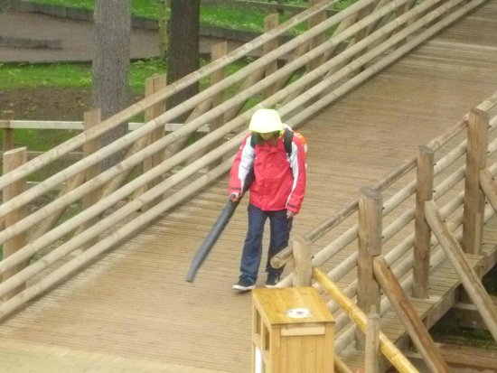 Center Parcs Woburn Forest: Man with noisy blower every morning, no leaves to blow