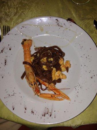 """Ristorante """"Da Attilio"""" : Linguine al cacao agli scampi Divini"""