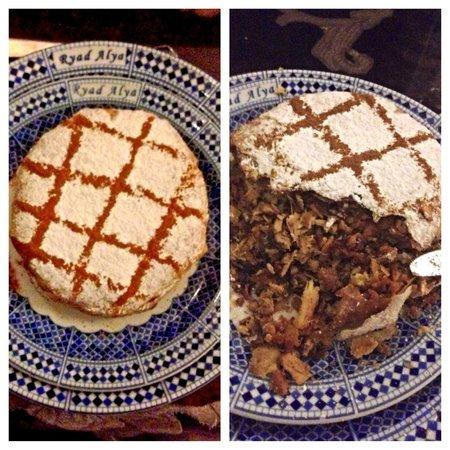 Ryad Alya: Pastilla.  Dinner on First night