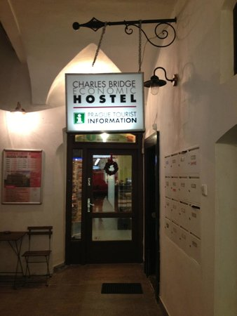 Charles Bridge Economic Hostel: hostel entrance