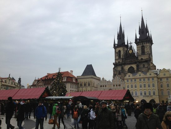 Charles Bridge Economic Hostel: Christmas Market, Old Town Square