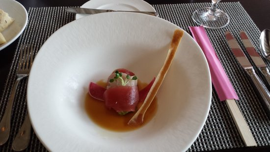 Azure Restaurant: first dish on tasting menu