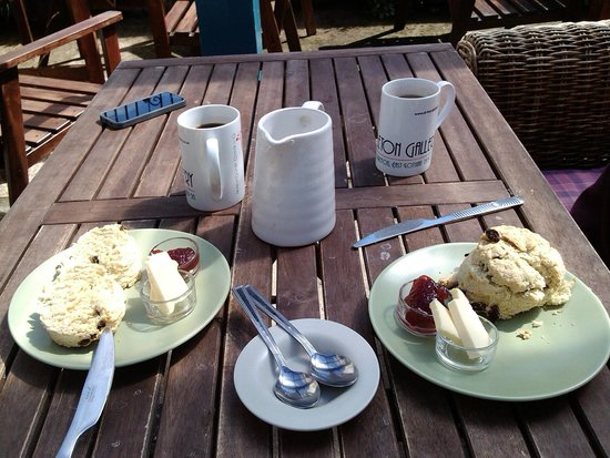 Dirleton Gallery: coffee & scones
