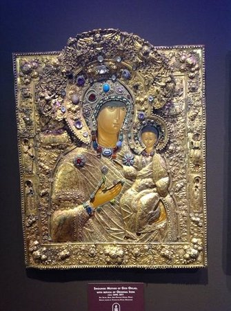 Museum of Russian Icons: Circa 1690 jeweled icon