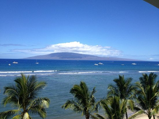 Lahaina Shores Beach Resort: View from back of hotel