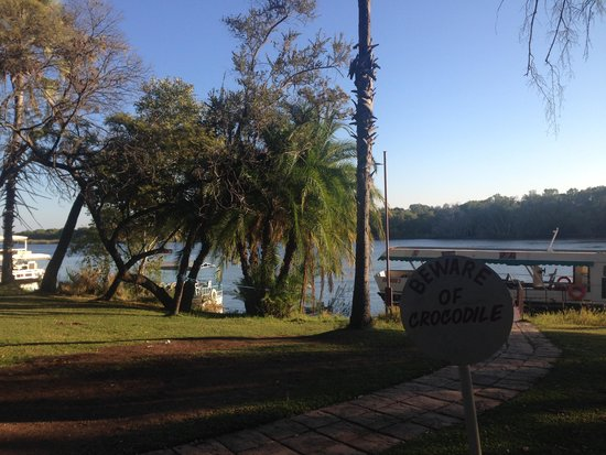 A'Zambezi River Lodge : Launch point for the boat cruise
