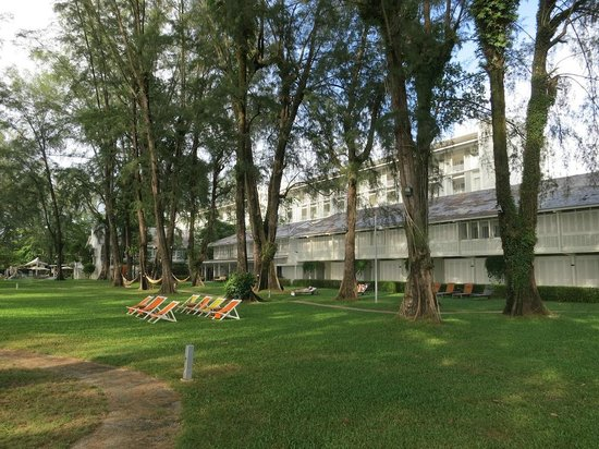 Lone Pine Hotel: Gardens, looking over to main part of hotel