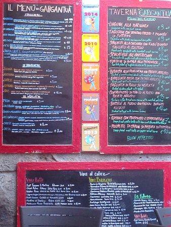 Taverna Gargantuà: Die Speisekarte