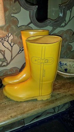 Hare and Hounds Hotel: wellies in the lodge for our use