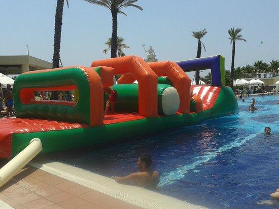Limak Atlantis Deluxe Hotel & Resort: Inflatable assault course.