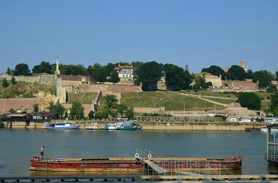 iBikeBelgrade: View as we came along the edge of the Danube looking back to the fortress