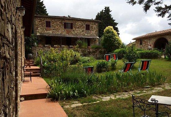 Ancora del Chianti Eco BB & Art Retreat in Tuscany : Garden view