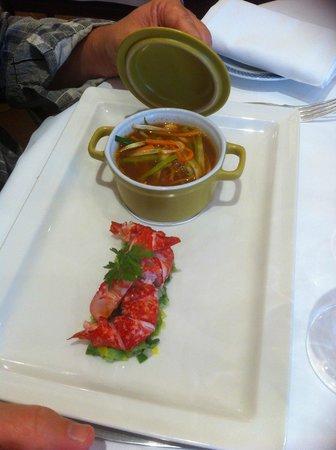 Best Western Hotel Le Dauphin Le Spa Du Prieure : homard