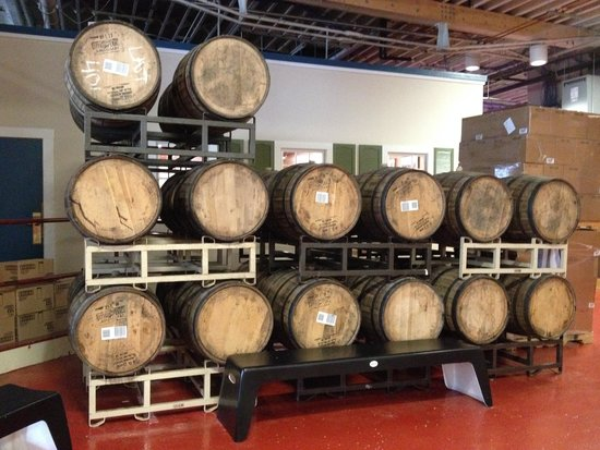 Samuel Adams Brewery : Beer barrels