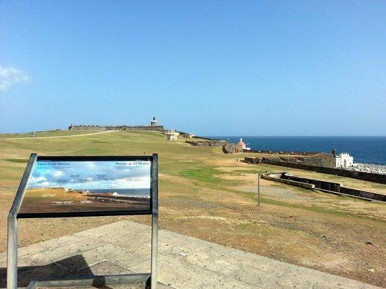 Castillo San Felipe del Morro: View to El Morro