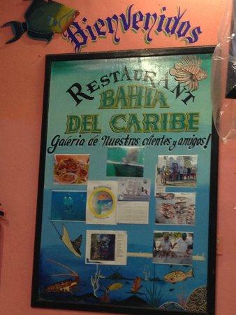 LA Bahia del Caribe: Sign
