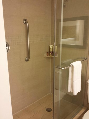 Sheraton Stamford Hotel : King Room Bathroom Shower