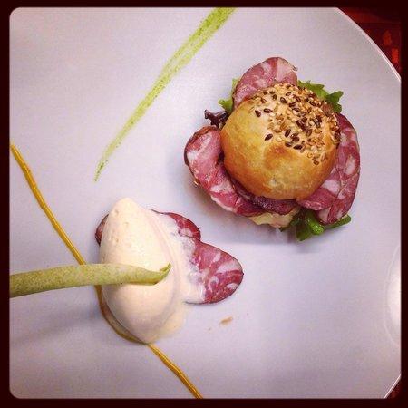 La Table d'Angèle : Burger de La Bresse - Crème glacée au Munster