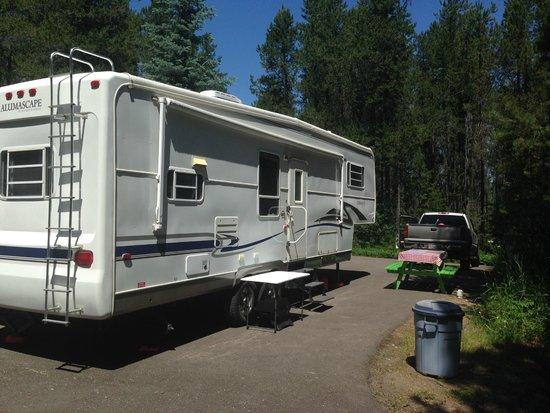 San-Suz Ed RV Park & Campground : Our campsite.