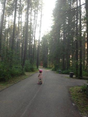 San-Suz Ed RV Park & Campground : Daughter riding her bike.