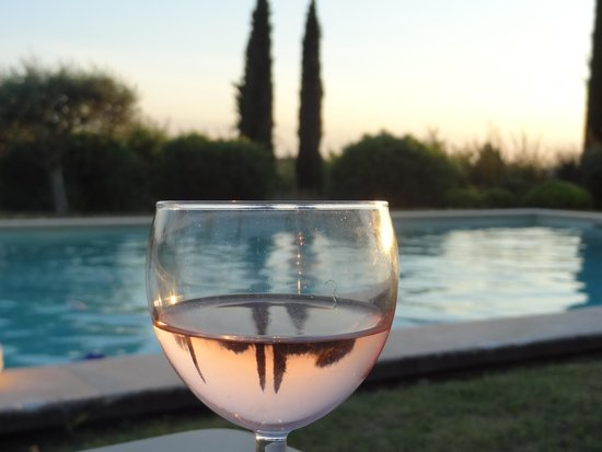 Mas de la Pierre du Coq: A crisp local wine and the pool are so refreshing