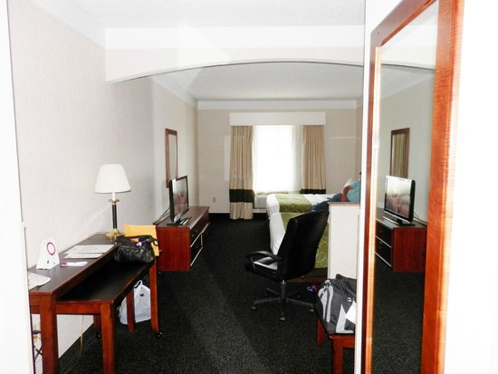 Comfort Suites Linn County Fairgrounds and Expo: our room