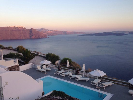 Oia Suites: Sunset