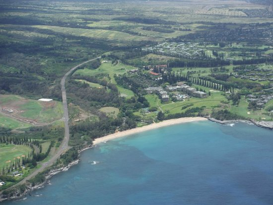 The Ritz-Carlton, Kapalua: Aerial view of the hotel.