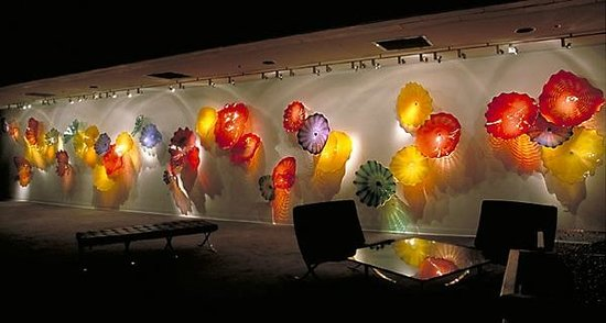 Spencer Theater for the Performing Arts: Persian Wall - Dale Chihuly Artwork on display throughout the theater