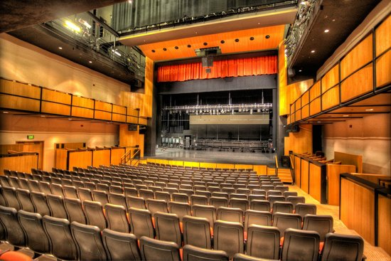Spencer Theater for the Performing Arts: Auditorium looking at stage