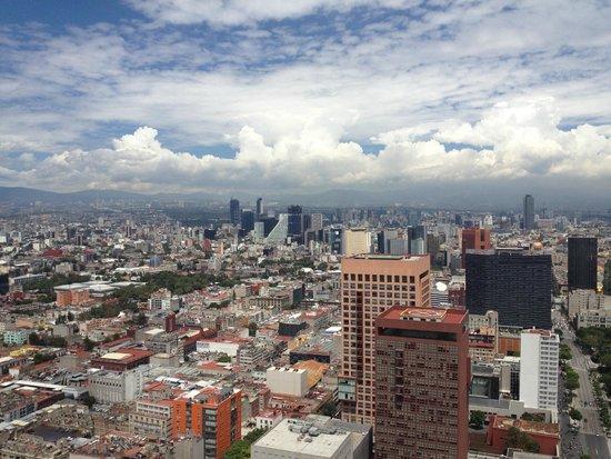 Torre Latinoamericana: Vista hacia el poniente