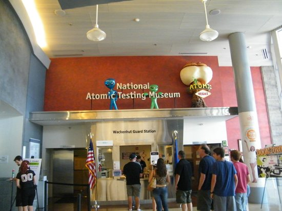 The National Atomic Testing Museum: interior entrance