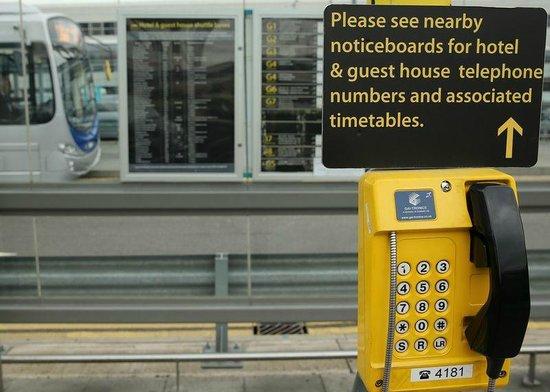 Gatwick Corner House Hotel: freephone at pick up points