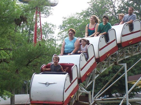 Knoebels Amusement Resort: his first coaster, four rides in a row
