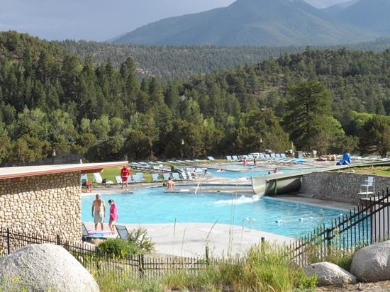 Mount Princeton Historic Bath House & Hot Springs : the warm pools and waterslide