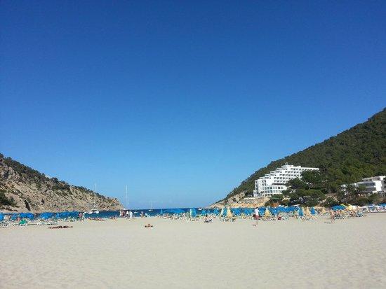 Palladium Hotel Cala Llonga: Blick vom Strand auf das Hotel