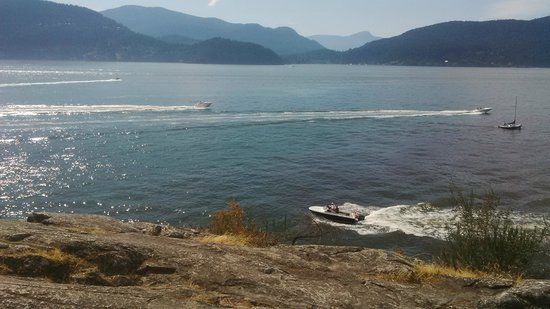 Looking West towards Bowen Island from Whytecliff Park