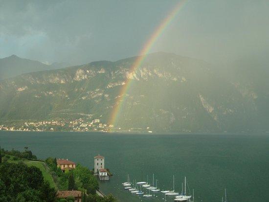 Hotel Belvedere Bellagio: spectacular rainbow