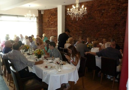 St James Restaurant: inside the crowded restaurant