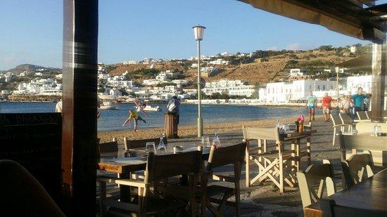 Mykonos Star: One of the numerous Mykonos port restaurants