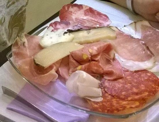 "Hosteria Nova Baccanale Cafe: Dish called ""Norcino"", Varied typical cold cuts and chees"