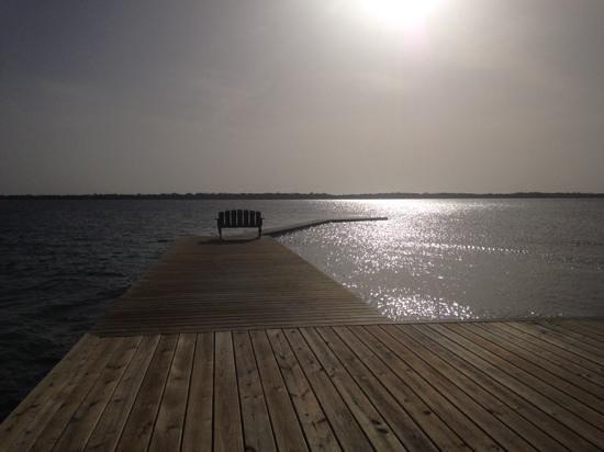 Turneffe Island Resort: vue depuis l'un des pontons