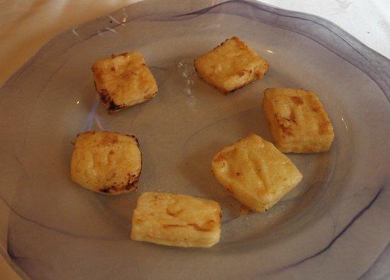 Meson del Cid : Leche frita flameada (Menú del Peregrino)