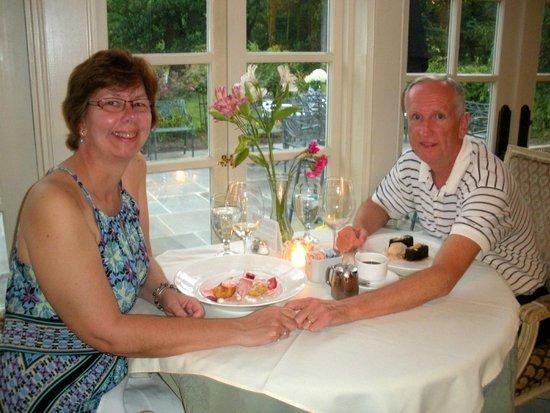 The Inn at Barley Sheaf Farm: Enjoying our luscious dessert